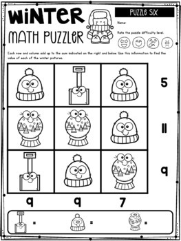 Math Puzzlers: Winter Edition