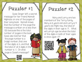 Math Puzzlers for Fast Finishers