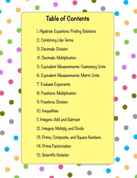 Math Puzzles! 15 Math Topics