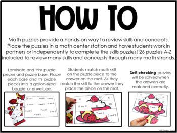 Math Puzzles First Grade