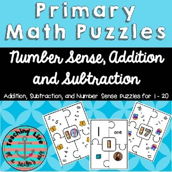 Math Puzzles - Addition, Subtraction, and Number Sense Within 20