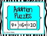Math Puzzles- Addition with Numbers 0-10
