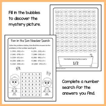 Math Puzzles Bundle - 4th Grade Common Core
