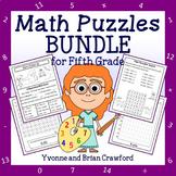 Math Puzzles Bundle - 5th Grade Common Core