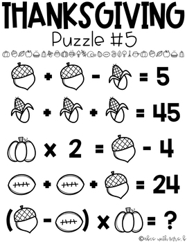 Math Puzzles Bundle: Monthly Themed