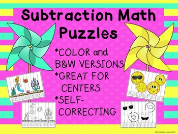 Math Puzzles Counting Skip Counting Addition Subtraction Kinder 1st 2nd Grade