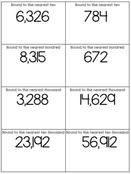 Math Task Card Puzzles - Place Value