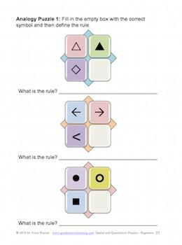Math Puzzles - Quantitative & Spatial Puzzles Beginners