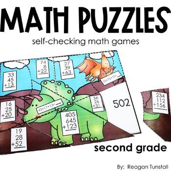 Math Puzzles Second Grade