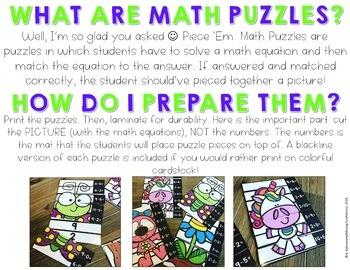 Math Puzzles {Spring}