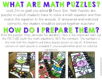 Math Puzzles {Spring}