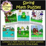 Spring Math Puzzles - Addition & Subtraction (School Designhcf)