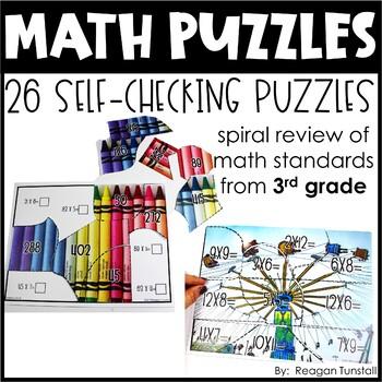 Math Puzzles Third Grade