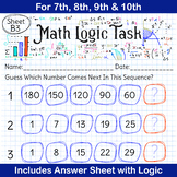 Math Puzzles | What Number Comes Next Questions for 7th, 8