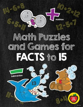 Math Puzzles and Games for Fact to 15