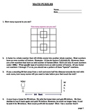 Math Puzzles for Groups or Learning Centers