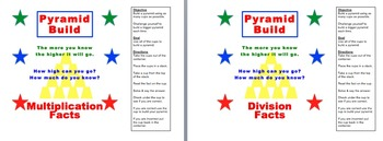 Math Pyramid Build - Addition, Subtraction, Multiplication & Division K-5
