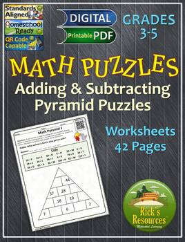 Math Puzzles Addition Subtraction