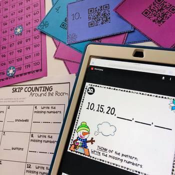 Math QR Code Hunt GROWING BUNDLE! (QR Codes linked to images!)