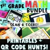 Digital Math Stations Bundle for the YEAR! {Digital Task Cards using QR Codes}