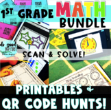 Digital Math Stations Bundle for the YEAR! {Digital Task Cards using QR Codes}