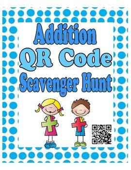 Math QR Code Scavenger Hunt Write the Room