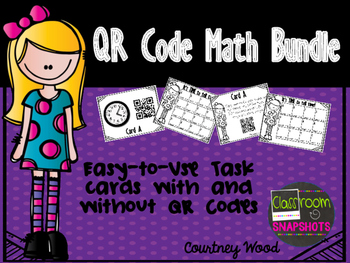 Math QR Code Task Cards GROWING BUNDLE