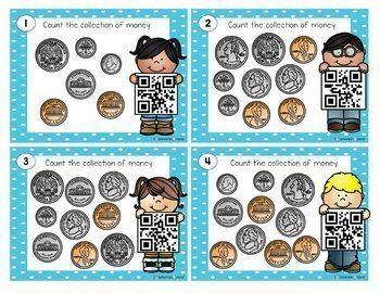 Math QR Codes Bundle - QR Codes Scoot Task Cards