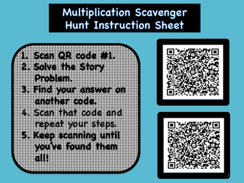 Math QR Scavenger Hunt Bundle