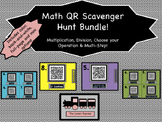 Math QR Scavenger Hunt Bundle