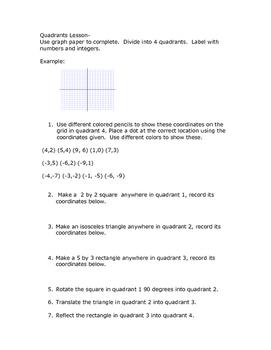 Math Quadrant Practice