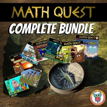 Math Quest BUNDLE (All Differentiated Levels included)