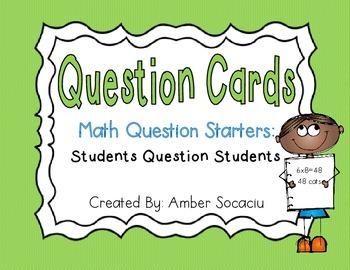 Math Question Cards Freebie