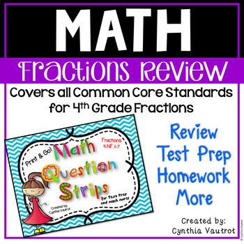 Fractions Review and 4th Grade Test Prep