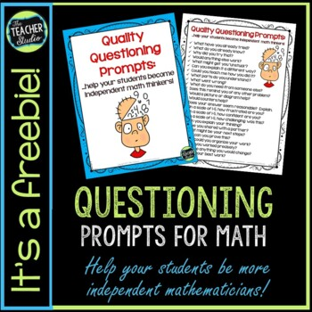 Math Questioning Prompts for Teachers