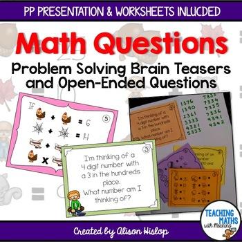 problem solving mathematics questions