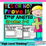 Error Analysis: Math Tasks Activities  [Math Questions to Prove]