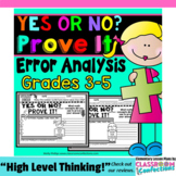 Error Analysis: Math Activities: Math Questions to Prove