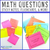 Math Questions for Student Reflection | 101 EDITABLE Mathe