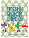Math Quick Check Cards {Common Core Aligned}