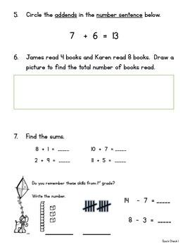 Math Quick Checks - 1st Quarter