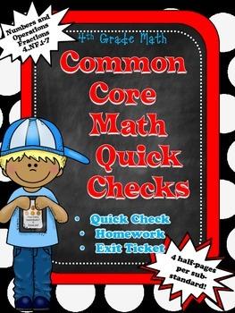 Math Quick Checks: 4th Grade Fractions Common Core