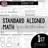 Math Quick Checks- Common Core Aligned 1st Grade