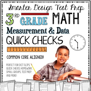 3rd Grade Math: Quick Checks / Exit Slips (Measurement & Data)