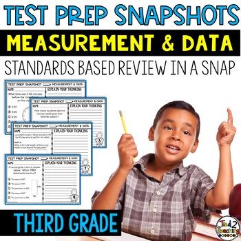 3rd Grade Math: Quick Checks / Exit Slips (Measurement & Data)