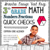 3rd Grade Math: Quick Checks / Exit Slips (Numbers Fractions)