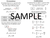 Permutations & Combinations Quick Notes