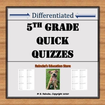 Math Quick Quizzes 5th Grade (40 quizzes!)