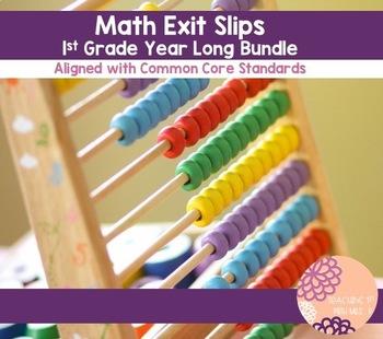 Standard Based First Grade Exit Slips YEAR BUNDLE!!
