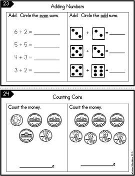 Math Journal - 5 minute skill builders